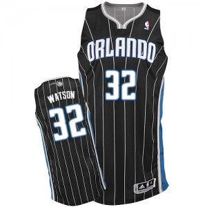 Maillot NBA Noir C.J. Watson #32 Orlando Magic Alternate Authentic Homme Adidas