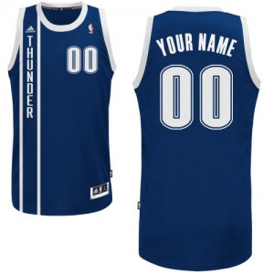 Maillot Oklahoma City Thunder NBA Alternate Bleu marin - Personnalisé Swingman - Homme