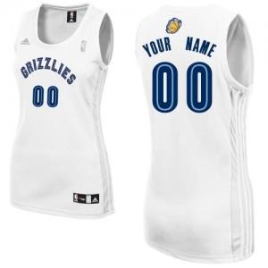 Maillot NBA Blanc Swingman Personnalisé Memphis Grizzlies Home Femme Adidas