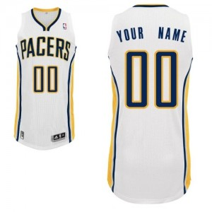 Maillot NBA Authentic Personnalisé Indiana Pacers Home Blanc - Homme