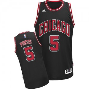 Maillot NBA Noir Bobby Portis #5 Chicago Bulls Alternate Swingman Homme Adidas