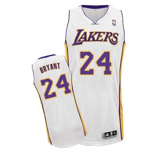 Los Angeles Lakers Kobe Bryant #24 Alternate Authentic Maillot d'équipe de NBA - Blanc pour Enfants