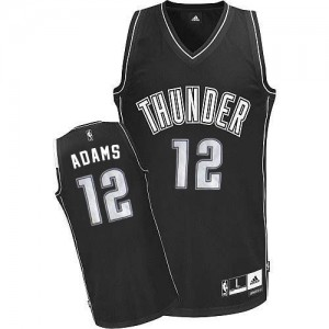 Maillot NBA Blanc Steven Adams #12 Oklahoma City Thunder Swingman Homme Adidas
