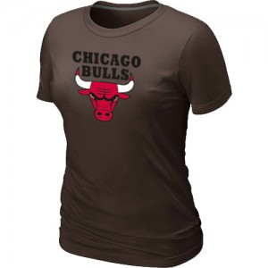 Chicago Bulls Big & Tall Tee-Shirt d'équipe de NBA - marron pour Femme