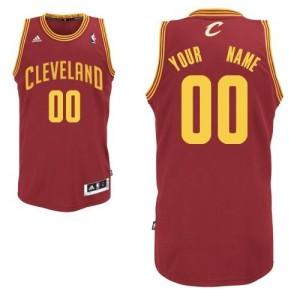 Maillot NBA Swingman Personnalisé Cleveland Cavaliers Road Vin Rouge - Homme