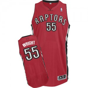 Maillot Adidas Rouge Road Authentic Toronto Raptors - Delon Wright #55 - Homme