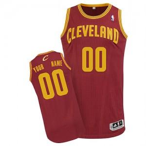 Maillot Adidas Vin Rouge Road Cleveland Cavaliers - Authentic Personnalisé - Homme