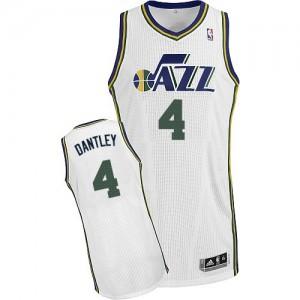 Utah Jazz Adrian Dantley #4 Home Authentic Maillot d'équipe de NBA - Blanc pour Homme