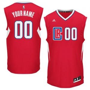 Los Angeles Clippers Authentic Personnalisé Road Maillot d'équipe de NBA - Rouge pour Homme