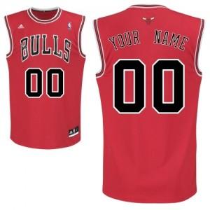 Chicago Bulls Swingman Personnalisé Road Maillot d'équipe de NBA - Rouge pour Enfants