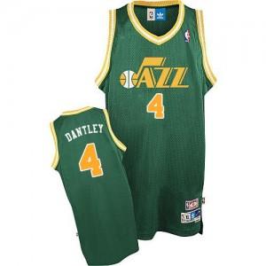 Maillot NBA Authentic Adrian Dantley #4 Utah Jazz Throwback Vert - Homme