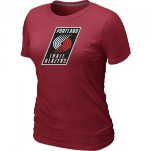 Portland Trail Blazers Big & Tall Rouge Tee-Shirt d'équipe de NBA Vente - pour Femme