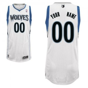 Maillot NBA Authentic Personnalisé Minnesota Timberwolves Home Blanc - Enfants