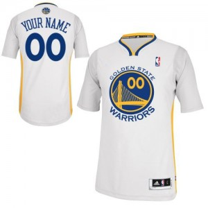 Maillot Golden State Warriors NBA Alternate Blanc - Personnalisé Authentic - Homme