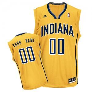 Indiana Pacers Swingman Personnalisé Alternate Maillot d'équipe de NBA - Or pour Homme
