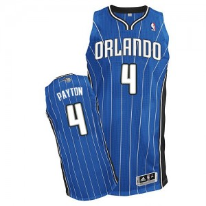 Maillot NBA Orlando Magic #4 Elfrid Payton Bleu royal Adidas Authentic Road - Homme