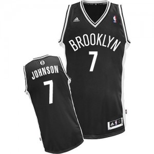 Maillot Adidas Noir Road Swingman Brooklyn Nets - Joe Johnson #7 - Homme