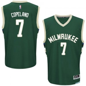 Milwaukee Bucks Chris Copeland #7 Road Authentic Maillot d'équipe de NBA - Vert pour Homme