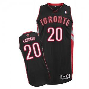 Toronto Raptors #20 Adidas Alternate Noir Authentic Maillot d'équipe de NBA Prix d'usine - Bruno Caboclo pour Homme