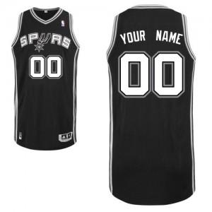 Maillot NBA San Antonio Spurs Personnalisé Authentic Noir Adidas Road - Homme