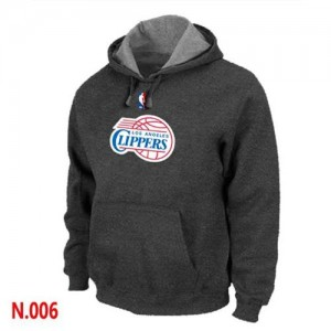 Sweat à capuche NBA Los Angeles Clippers Gris foncé - Homme