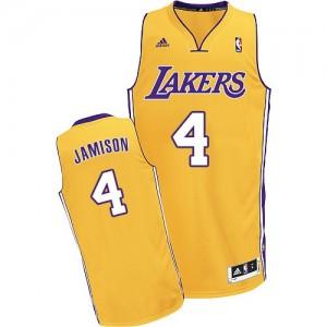 Los Angeles Lakers Byron Scott #4 Home Swingman Maillot d'équipe de NBA - Or pour Homme