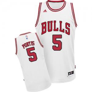 Chicago Bulls Bobby Portis #5 Home Swingman Maillot d'équipe de NBA - Blanc pour Homme