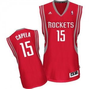 Maillot Adidas Rouge Road Swingman Houston Rockets - Clint Capela #15 - Homme
