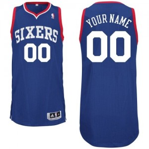 Maillot Adidas Bleu royal Alternate Philadelphia 76ers - Authentic Personnalisé - Homme