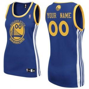 Golden State Warriors Authentic Personnalisé Road Maillot d'équipe de NBA - Bleu royal pour Femme