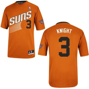 Phoenix Suns #3 Adidas Alternate Orange Authentic Maillot d'équipe de NBA achats en ligne - Brandon Knight pour Homme