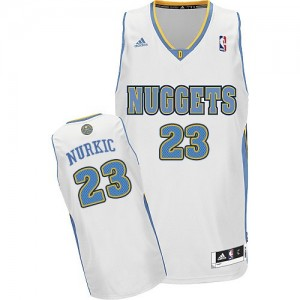 Maillot NBA Swingman Jusuf Nurkic #23 Denver Nuggets Home Blanc - Homme