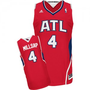 Maillot NBA Atlanta Hawks #4 Paul Millsap Rouge Adidas Swingman Alternate - Homme