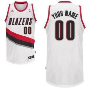 Maillot NBA Portland Trail Blazers Personnalisé Swingman Blanc Adidas Home - Enfants