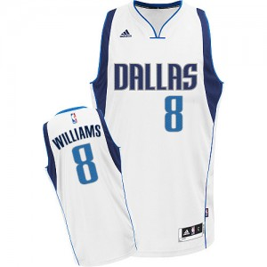 Dallas Mavericks #8 Adidas Home Blanc Swingman Maillot d'équipe de NBA Le meilleur cadeau - Deron Williams pour Femme
