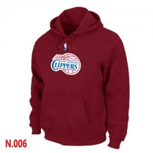 Sweat à capuche NBA Los Angeles Clippers Rouge - Homme