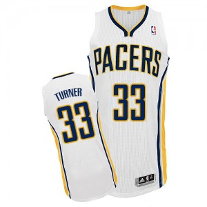 Maillot Authentic Indiana Pacers NBA Home Blanc - #33 Myles Turner - Homme