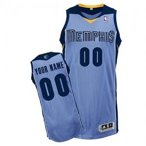 Maillot NBA Bleu clair Authentic Personnalisé Memphis Grizzlies Alternate Homme Adidas