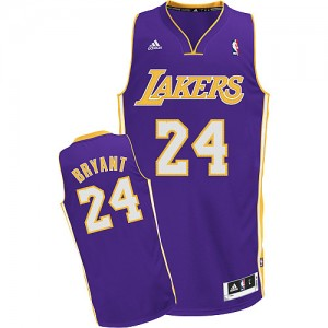 Los Angeles Lakers #24 Adidas Road Violet Swingman Maillot d'équipe de NBA sortie magasin - Kobe Bryant pour Enfants