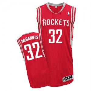 Houston Rockets KJ McDaniels #32 Road Authentic Maillot d'équipe de NBA - Rouge pour Homme