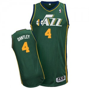 Maillot Adidas Vert Alternate Authentic Utah Jazz - Adrian Dantley #4 - Homme
