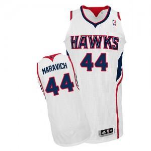 Atlanta Hawks Pete Maravich #44 Home Authentic Maillot d'équipe de NBA - Blanc pour Homme
