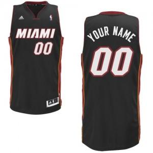 Maillot NBA Noir Swingman Personnalisé Miami Heat Road Enfants Adidas