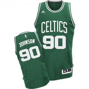 Maillot Swingman Boston Celtics NBA Road Vert (No Blanc) - #90 Amir Johnson - Homme
