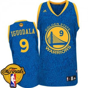Maillot Adidas Bleu Crazy Light 2015 The Finals Patch Authentic Golden State Warriors - Andre Iguodala #9 - Homme