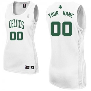 Maillot Adidas Blanc Home Boston Celtics - Authentic Personnalisé - Femme
