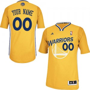 Maillot Golden State Warriors NBA Alternate Or - Personnalisé Swingman - Enfants
