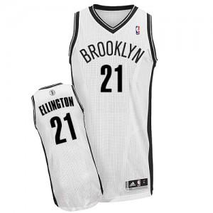 Maillot NBA Blanc Wayne Ellington #21 Brooklyn Nets Home Authentic Homme Adidas