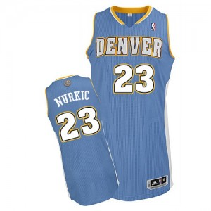 Maillot NBA Authentic Jusuf Nurkic #23 Denver Nuggets Road Bleu clair - Homme
