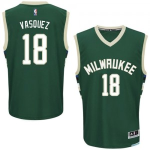 Maillot Authentic Milwaukee Bucks NBA Road Vert - #18 Greivis Vasquez - Homme